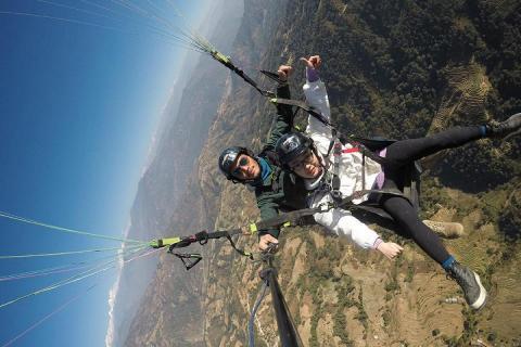 Nagarkot paragliding