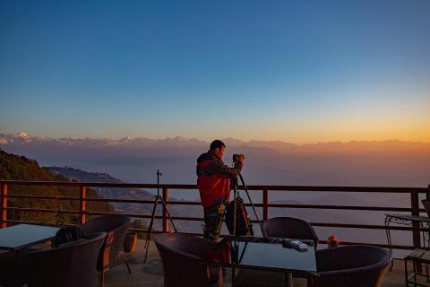 Sunrise and sunset from Nagarkot